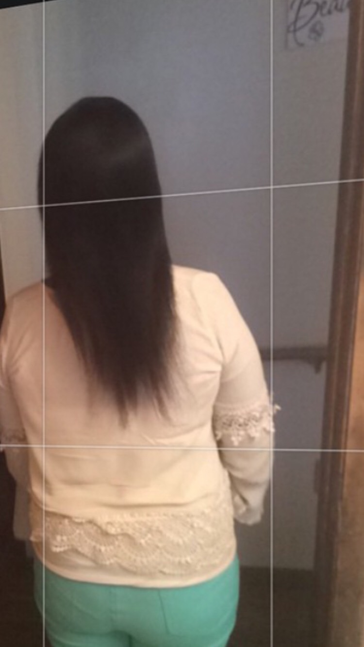 I know my ends gotta get cut but this is how long it is