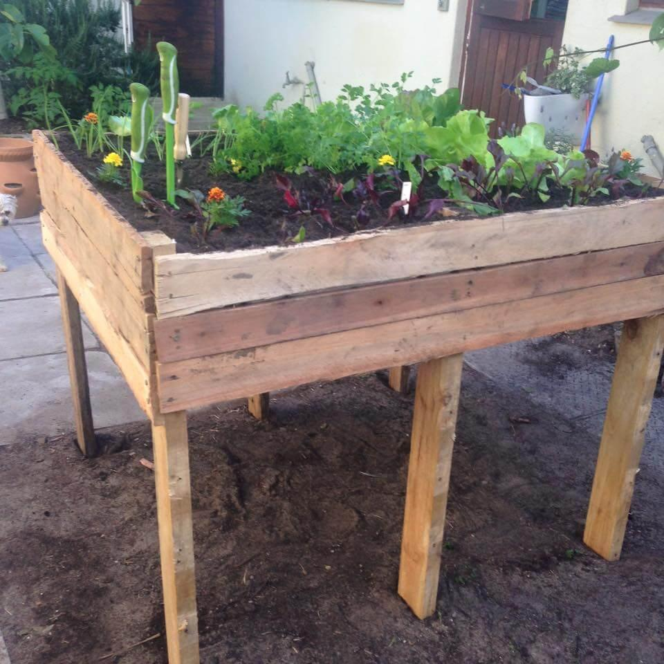 How To Make A Pallet Garden Bed By Diy Craftsy Musely