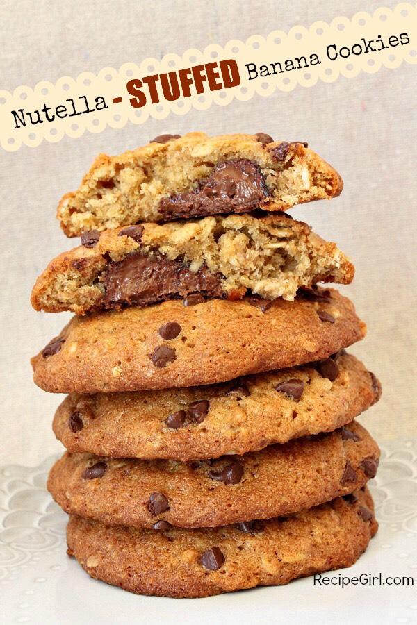 Nutella and banana cookies
