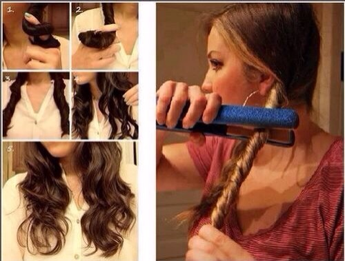 This is as easy as pie!!! All you have to do is take your straighter and twist your hair in 4 different sections then just straighten over them!!!