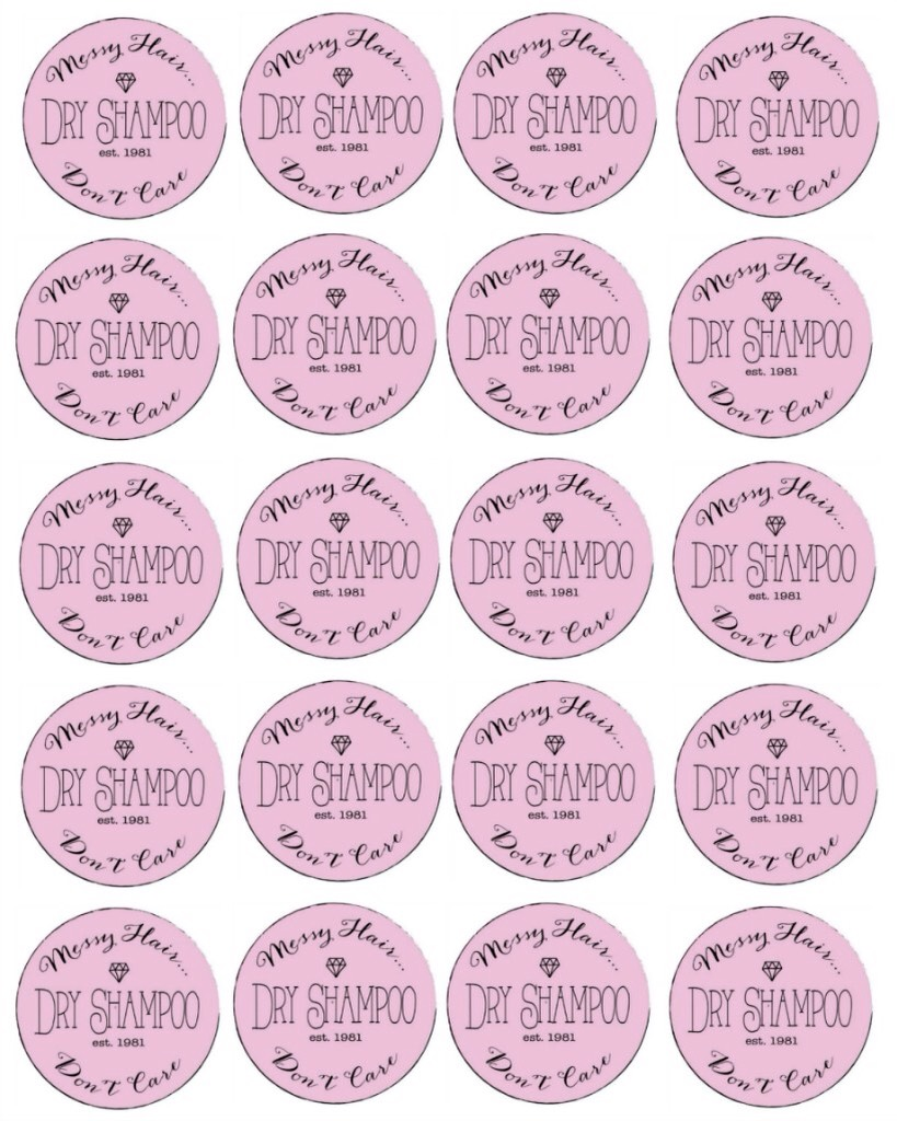 http://www.thirtyhandmadedays.com/2015/05/diy-dry-shampoo/  Click on link to get these labels