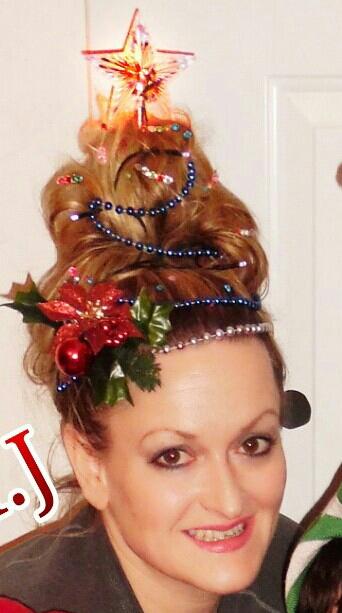 Christmas Tree Hair How To Decorate Hair Like A Xmas Tree