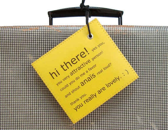 12. Personalized Luggage Tag