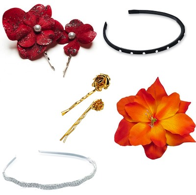 Head band ,clips ,flowered ,ribbon ,bandana ect
