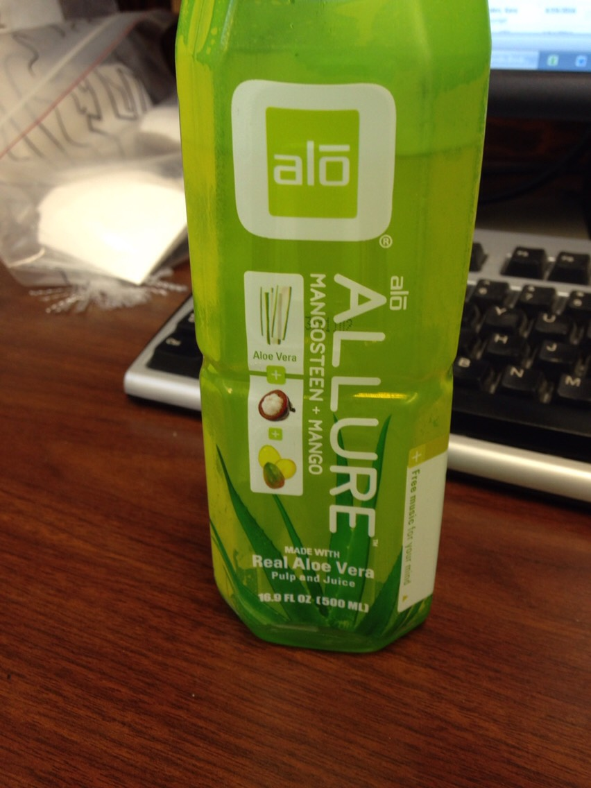 Yummy aloe drink to help with tummy aches. Drink one a day to help lose belly fat!