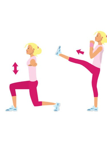 15 lunge kicks (on each leg)