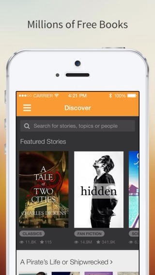 Wattpad- you can publish all of your fan fiction and books you've written. And you can read the works of others!