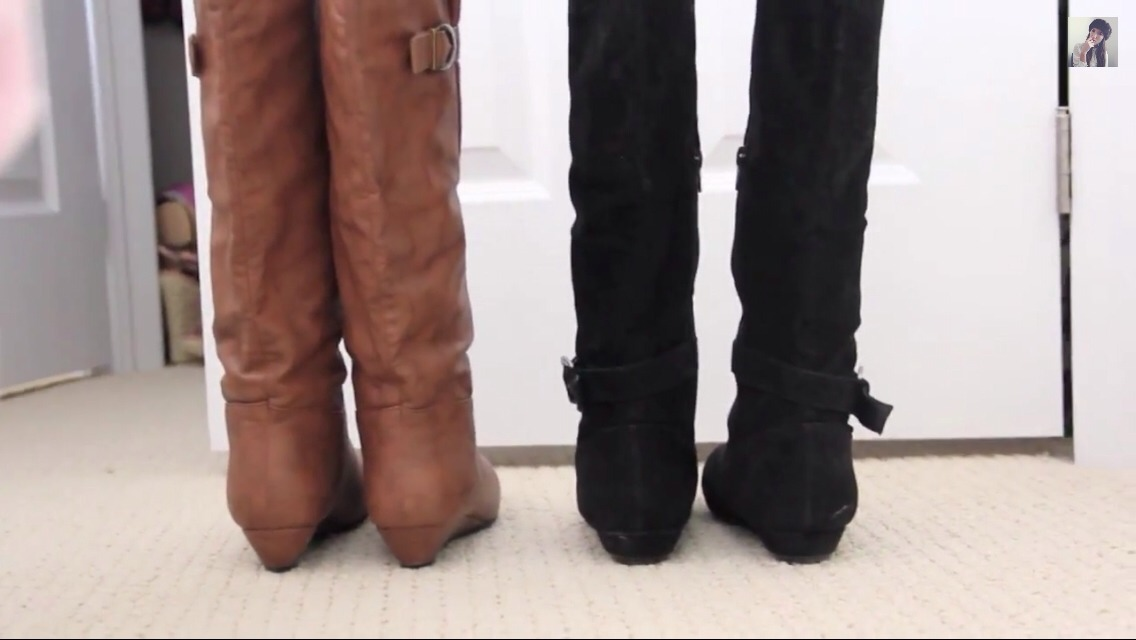Keep your boots from flopping over (boots are expensive, let's take care of them) by simply using a BOOT STAND!! :D  You can buy it BUT making it yourself is much more fun and cheap!!