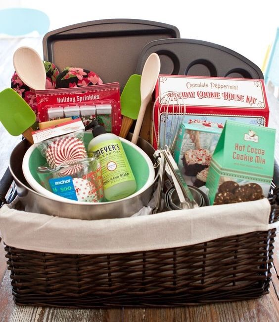 Baking essentials gift basket