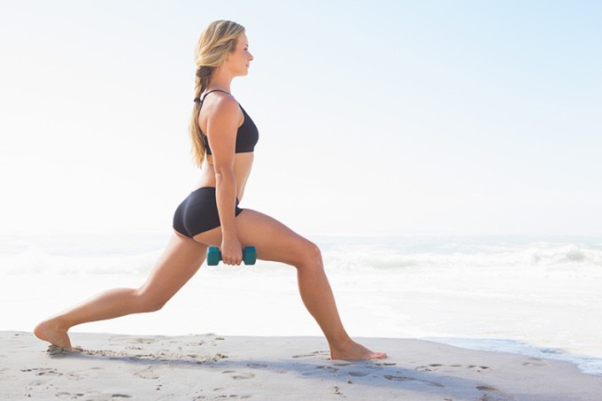 5. Walking lunges