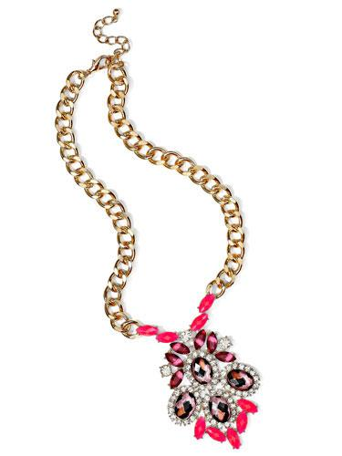 Neon Statement Necklace A blingy necklace takes a casual outfit to new heights!  Freedom at Topshop necklace