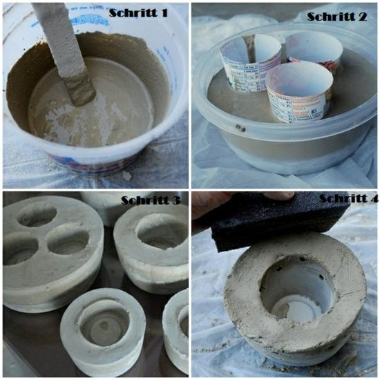 Concrete Plant or Candle Holders