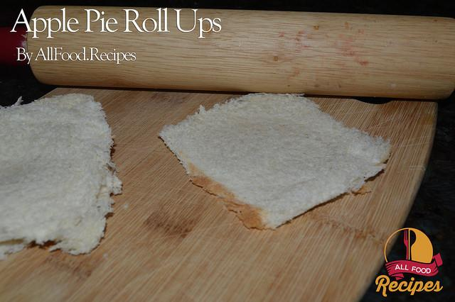 -Roll each slice flat with a rolling pin