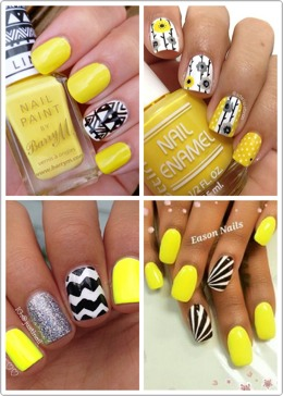 It's not often we see many yellow mani's, but why not? It's such a bright, happy color! And let's face it, what better color is there for a summer manicure? This will give you plenty of ideas to get you rockin'that yellow! (Plus, I added one of my own and some amazing polishes you're sure to love!)