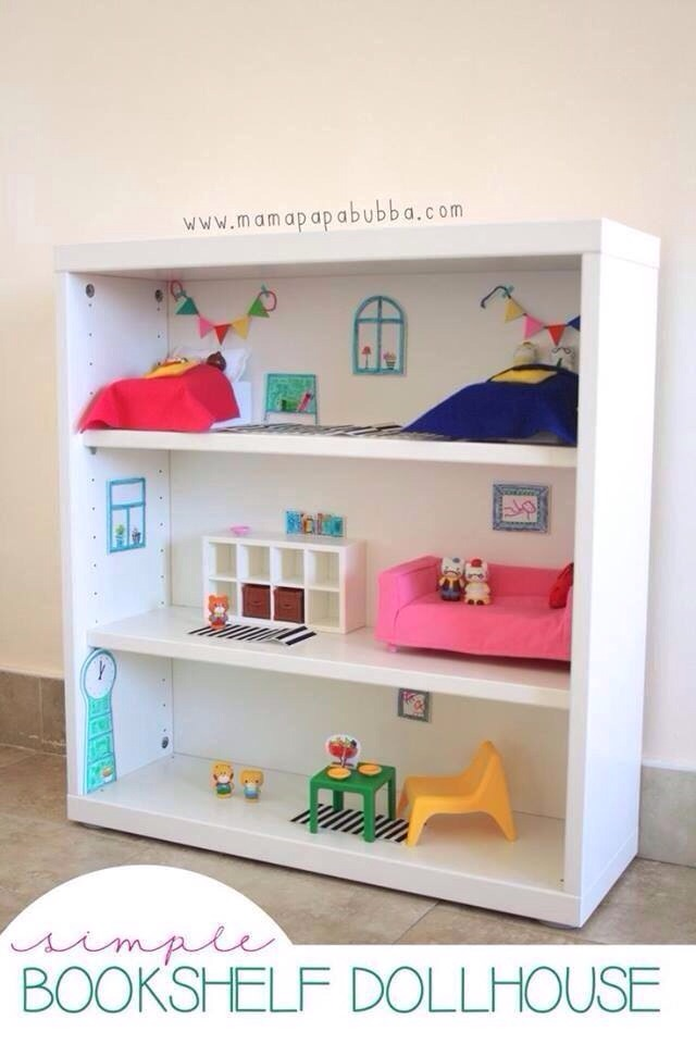 Easy doll house!!! Mamapapabubba.com