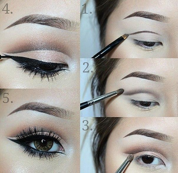 2. Blend above the line you drew. Don't blend the bottom of the line, since you want it to stay sharp!