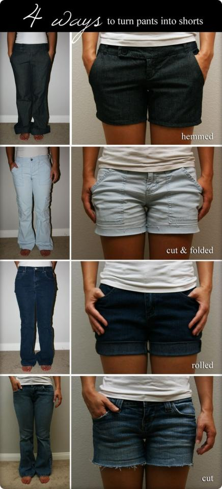 24. And here's how you turn pants into shorts.
