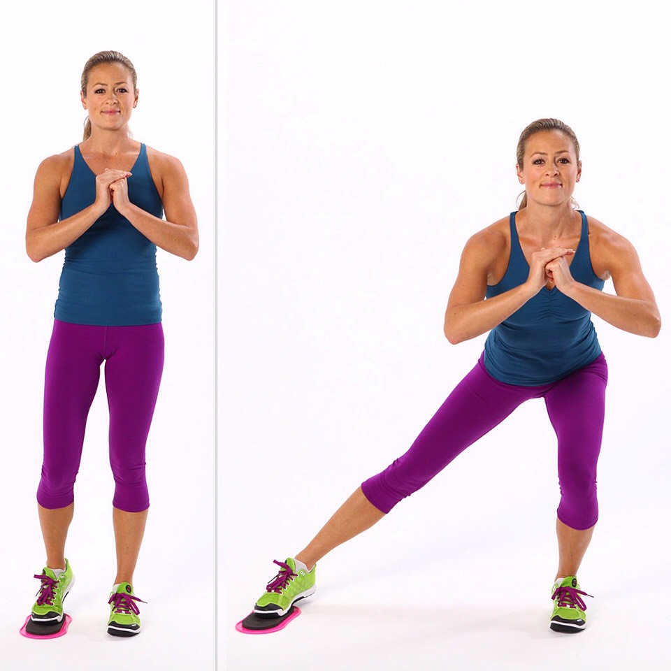 29 side lunges