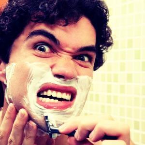 Don't put shaving cream
