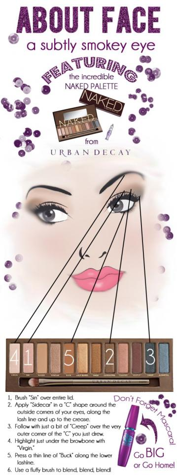 We bring you this subtle smokey eye tutorial! Make your eyes look amazing easily! This tutorial features Naked Palette by Urban Decay, which is an extremely popular product.