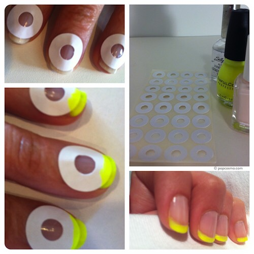* Use paper reinforcements to create perfect manicures.