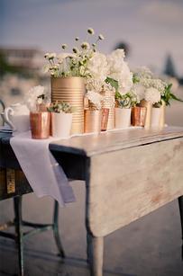 18. Tin cans also make pretty vases.