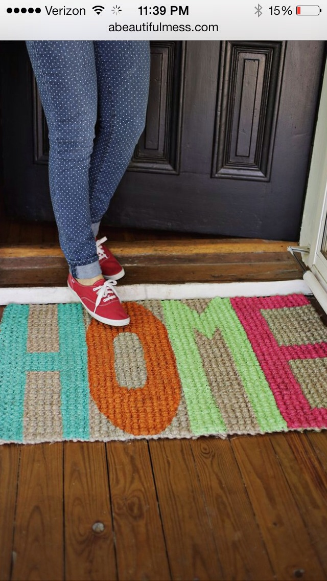 Make your welcome mat stand out !