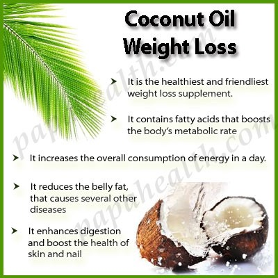 4. Coconut Oil Can Kill Your Hunger, Making You Eat Less Without Even Trying:  The fatty acids in coconut oil can significantly reduce appetite, which may positively affect body weight over the long term.