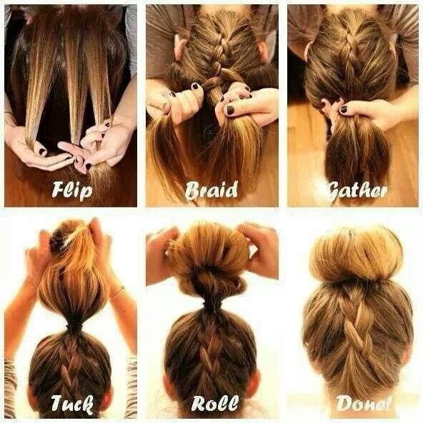 Step By Step Upside Down French Braid Bun Tutorial By Katie Jones