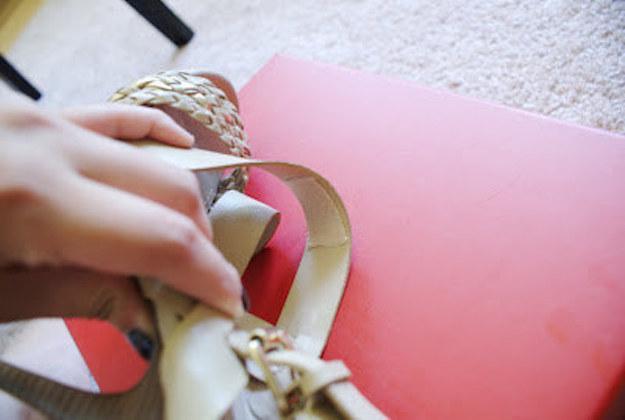 Use moleskin to cushion tight shoe straps