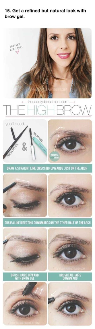 --> Add more shape to your brows without having to fill them in. This is also a great trick for upgrading brows while you're on a warm-weather vacation.