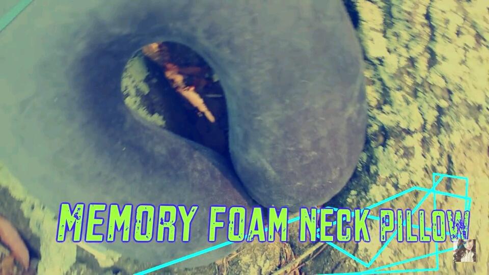 First, take a memory foam neck pillow.