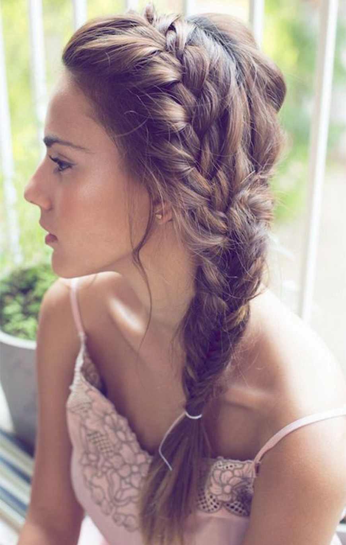 3.french braid into fishtail braid