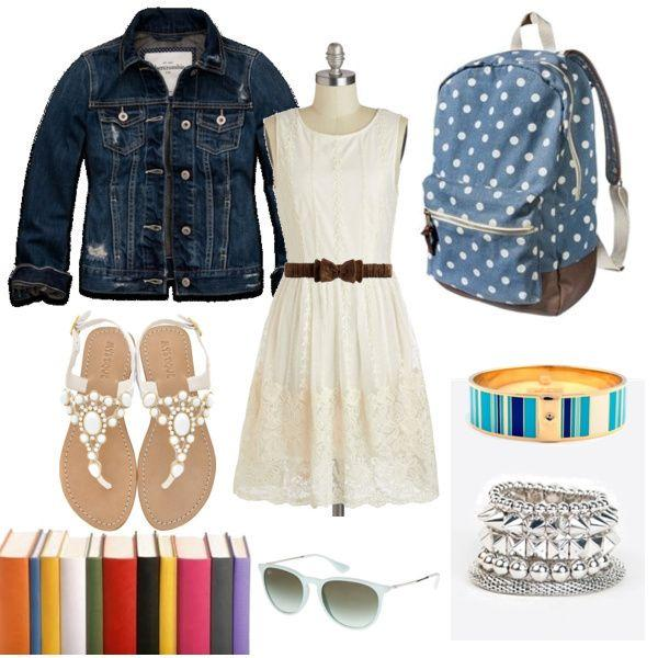 stylish back to school outfit on polyvore