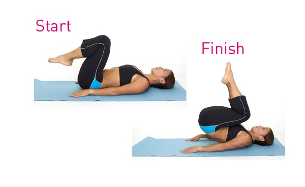 25 reverse crunches