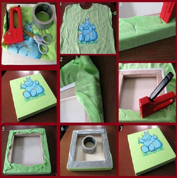 make a picture out of an old shirt