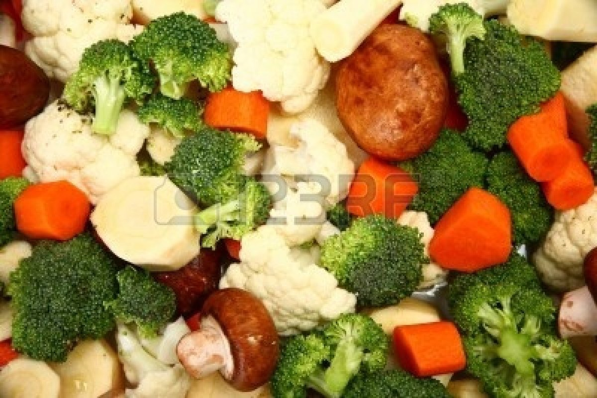 Chop up as much as you want/need of the above vegetables ( Carrots, Broccoli, Cauliflower, Mushrooms, Parsnips ) and boil until soft.