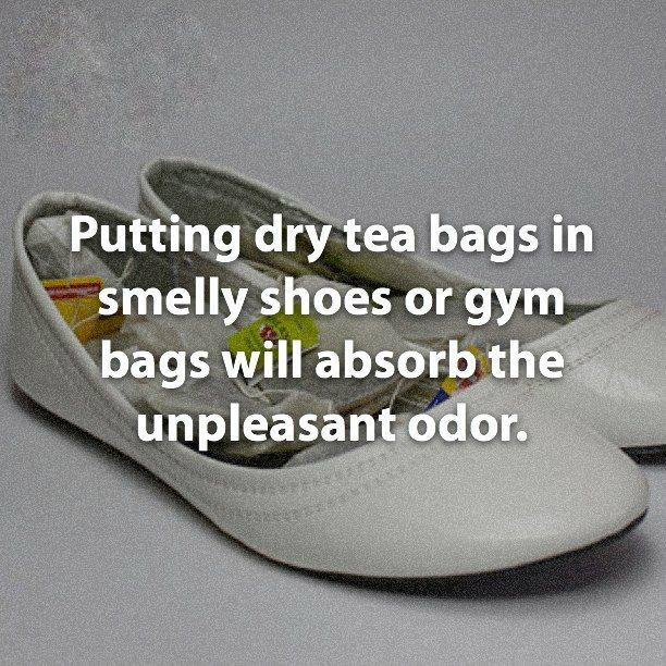 Smelly shoe remedy.