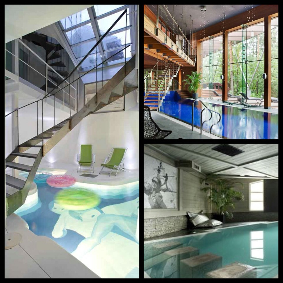 As some of you may know,I live in Arizona. Here it is the end of April and it's already 100+ degrees everyday. I find myself daydreaming about a pool inside of my house. Istarted looking andhere's some pics I found that blew my mind.I hope they rock your worldas well.