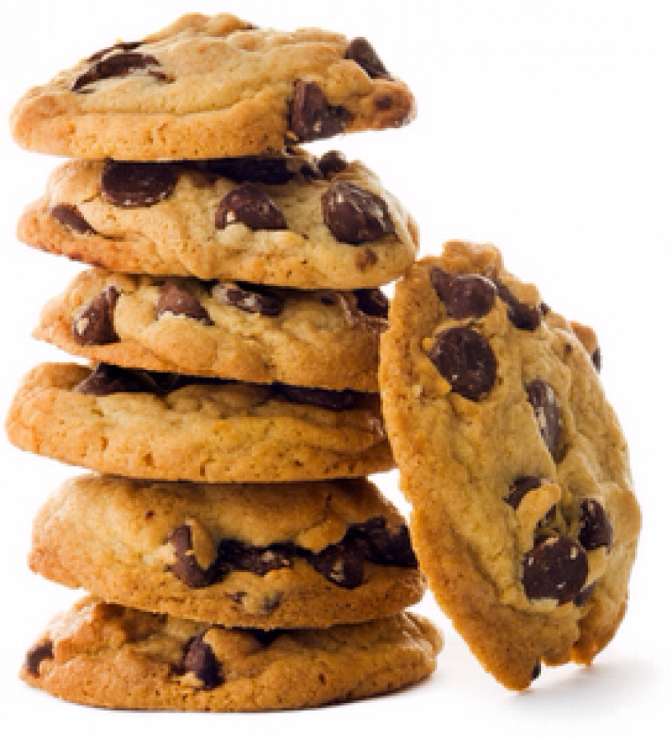 Store bought choc chip cookies heated in the microwave for 30 secs make the choc chips all warm and gooey...mmmmmmm