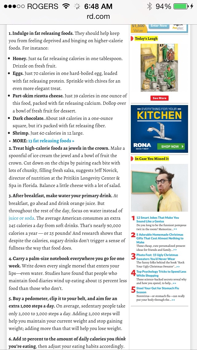 Follow these rules from readers digest