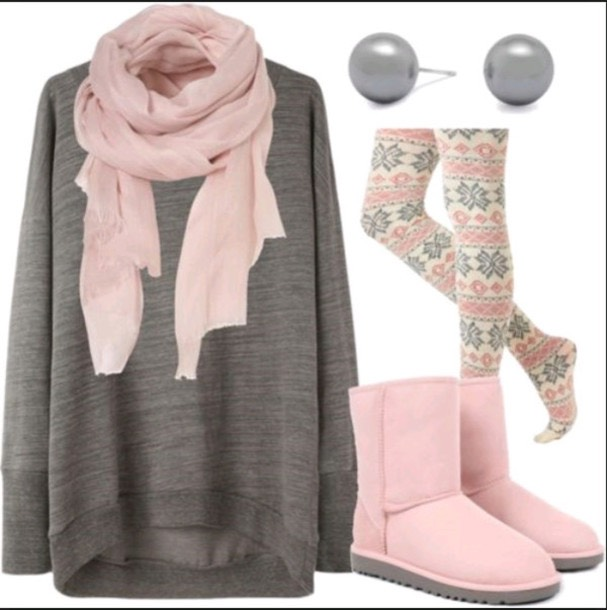 2. Pink and grey (I need this outfit btw 😫 ~Erin)