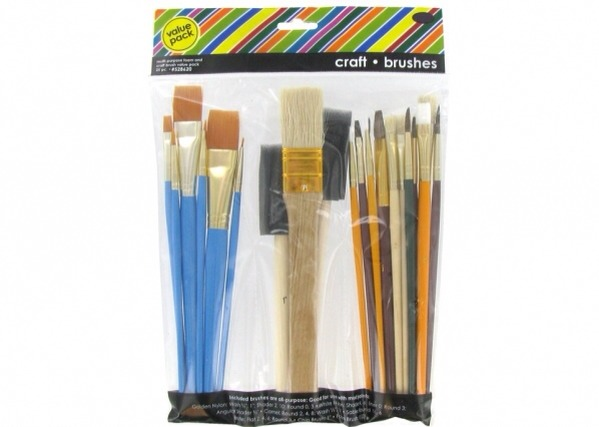 3. CRAFTING BRUSH SET  Having a variety of brushes available will make any repurposing project possible. From teeny tiny bristles to get into the nooks and crannies of a project, to foam brushes for decoupage, you'll have it ready when you need it.