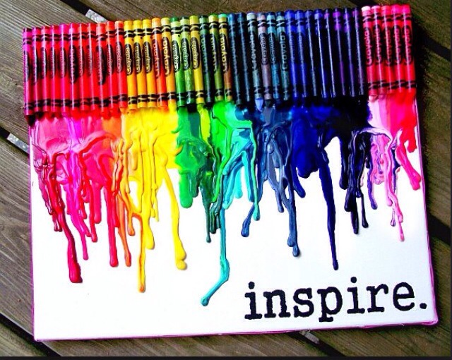 Have any crayons? Turn them into a masterpiece using a canvas or cardboard square, many crayons, and a blow dryer! Blow dry the crayons anyway you want!! Plz like and share