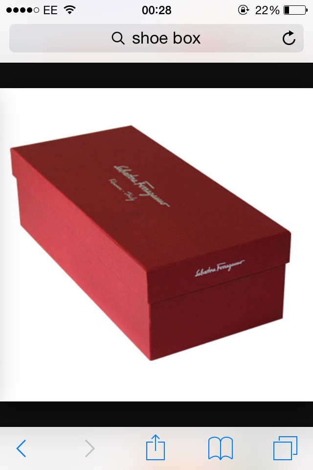 First you will need a shoe box, any will do.  You will then need to make small holes on the side about the size of a 10pence, make 4 holes. Also cut out a U in the back, you will see why on the next page. Once you have cut the holes you can decorate the box how ever you like.