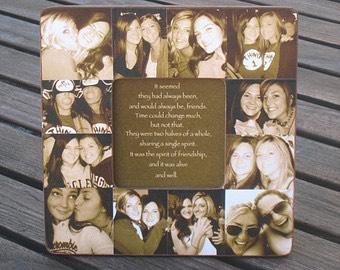 A cute photo frame full of photos you have had together and cute quotes💘