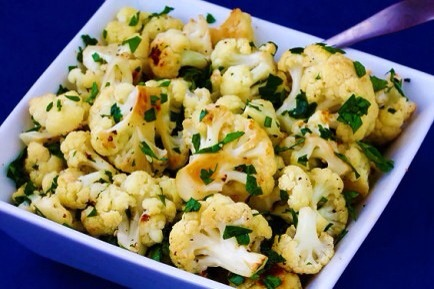 Cauliflower  Dozens of studies link cauliflower-containing diets and cancer prevention- try it roasted for a delicious side dish!