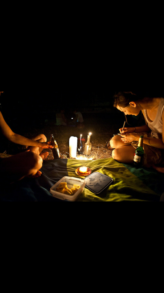 Late night picnics are the perfect example of a cheap and extremely romantic date.