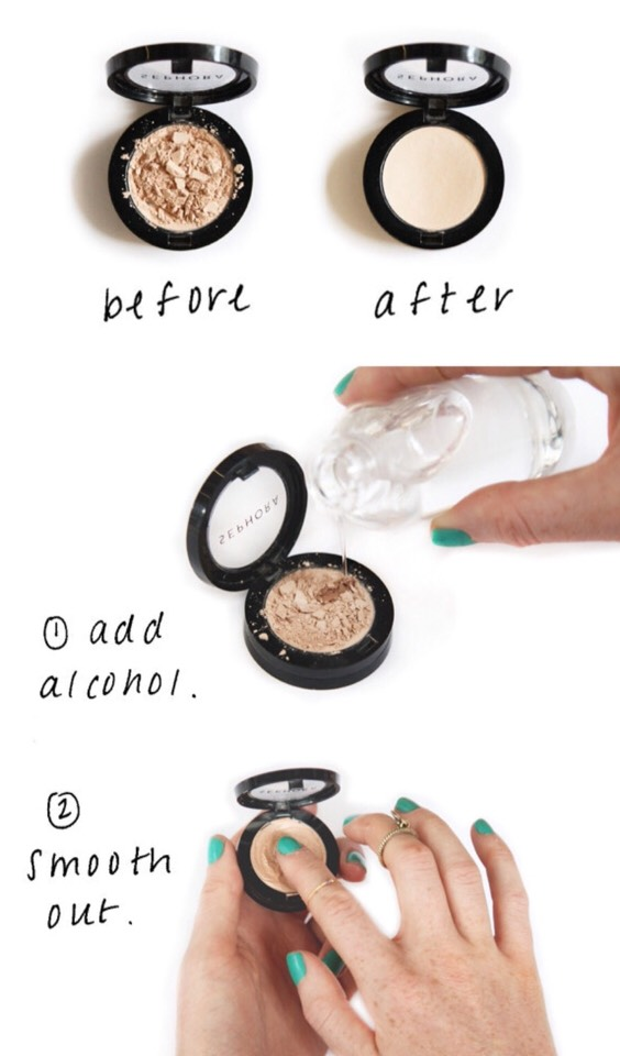 """This is a L.I.F.E. S.A.V.E.R!!! Like for real!!! How many times have you broken your powder or eyeshadow or even blush and ended up throwing it away because you thought """"oh well"""" well here is a trick for you!!😇"""