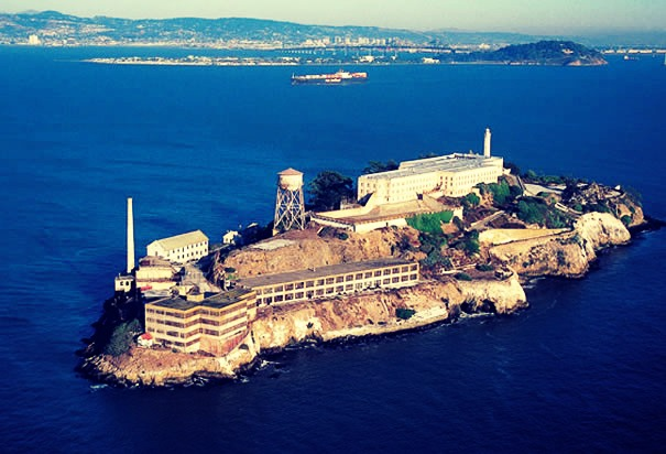 Alcatraz- A beautiful prison for which infamous prisoners were held during the 1900's